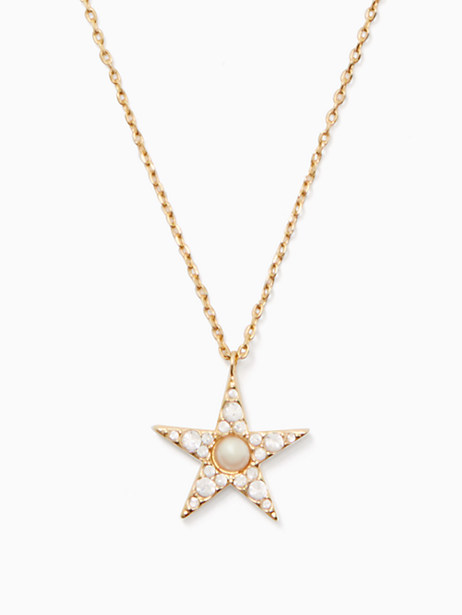 Kate Spade Seeing Stars Pave Star Pendant, Clear/Gold