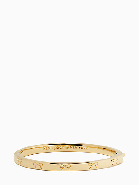 heavy metals engraved bow bangle by kate spade new york
