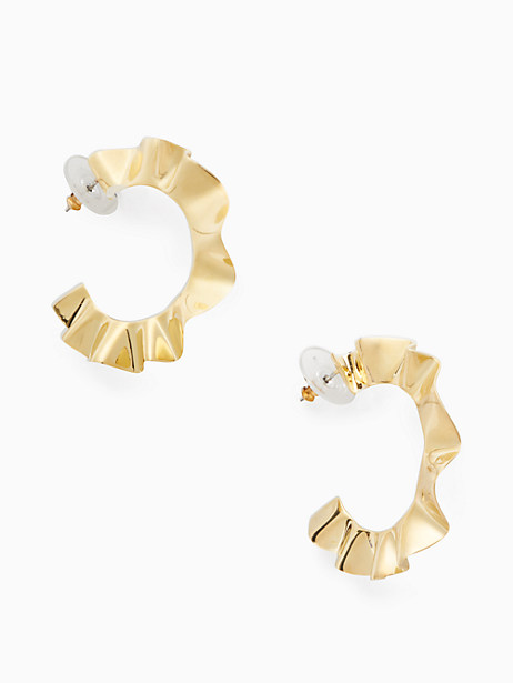 frilled to pieces hoops by kate spade new york