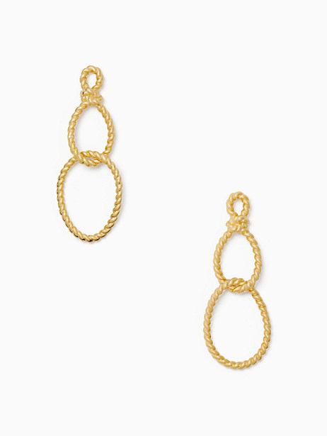 sailor's knot statement earrings by kate spade new york