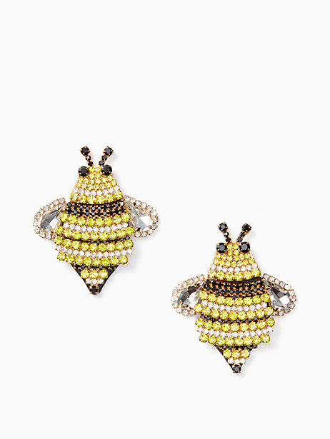 picnic perfect jeweled bee statement studs by kate spade new york