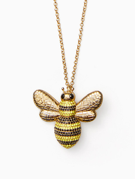 picnic perfect pave bee pendant by kate spade new york