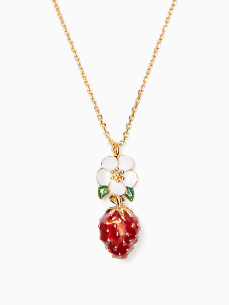 picnic perfect strawberry mini pendant by kate spade new york