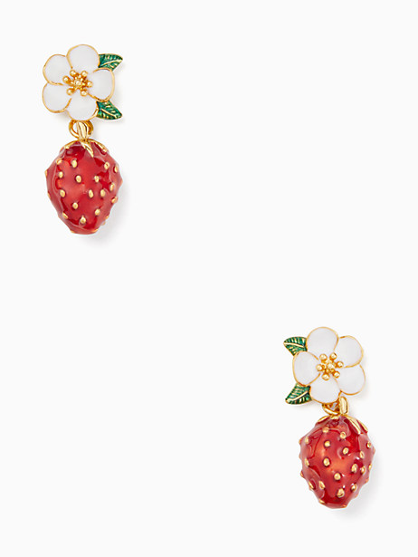 picnic perfect strawberry drop earrings by kate spade new york