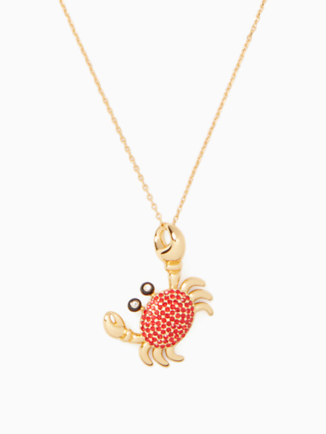 shore thing pave crab pendant by kate spade new york