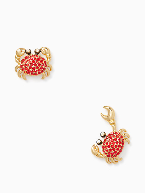 shore thing pave crab studs by kate spade new york