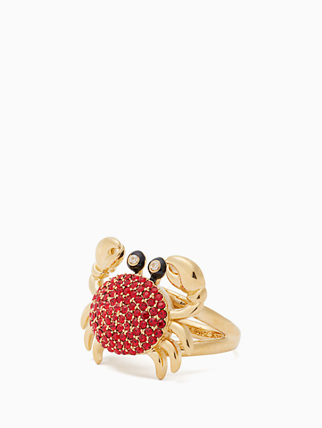 shore thing pave crab ring by kate spade new york