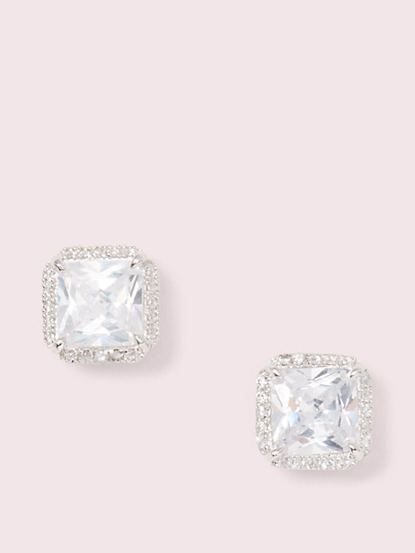 save the date pave princess cut studs by kate spade new york