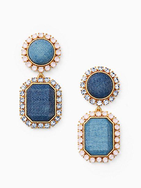 denim dreams drop earrings by kate spade new york