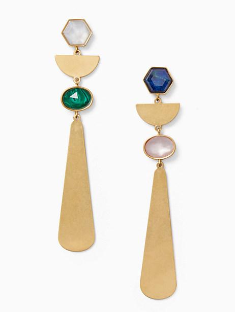 sunshine stones linear earrings by kate spade new york