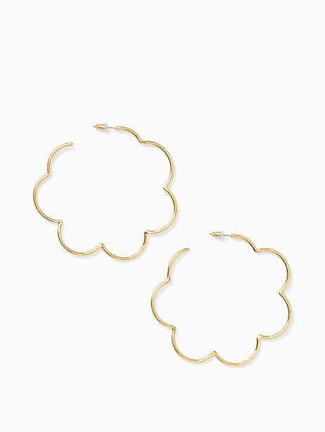 scrunched scallops large hoops by kate spade new york