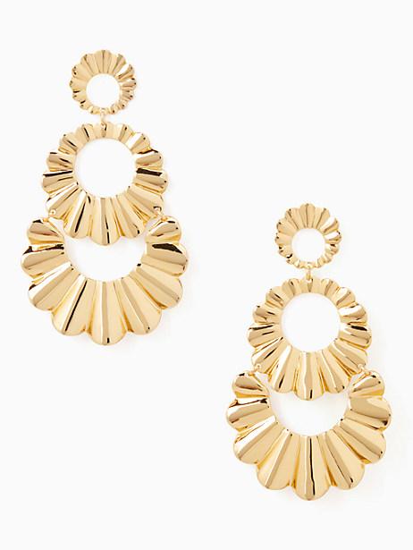 scrunched scallops triple drop earrings by kate spade new york