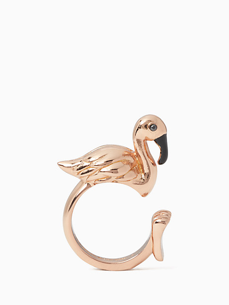 by the pool flamingo ring by kate spade new york