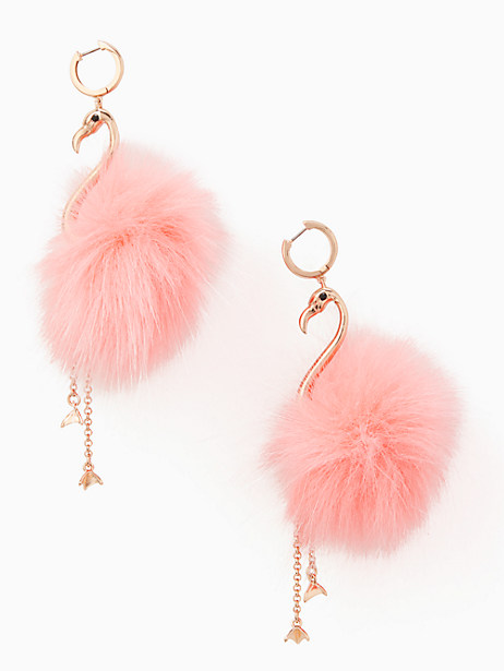 BY THE POOL FLAMINGO STATEMENT EARRINGS