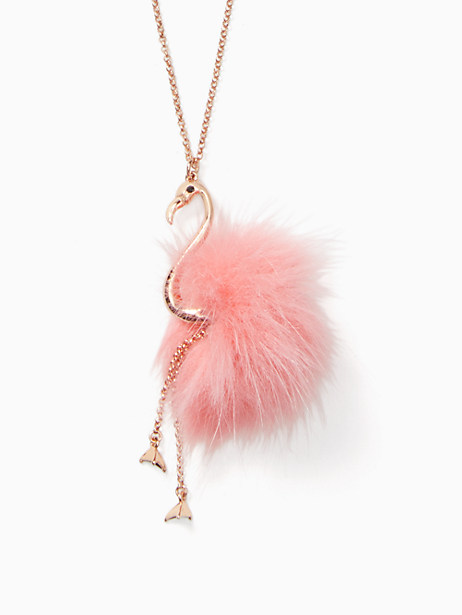 by the pool flamingo pendant by kate spade new york