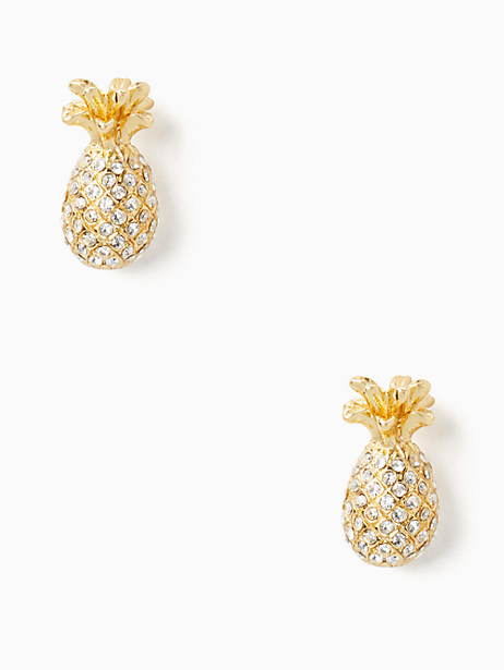 by the pool pave pineapple mini studs by kate spade new york