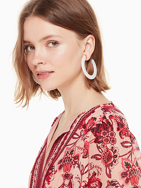 slice of stone hoops by kate spade new york