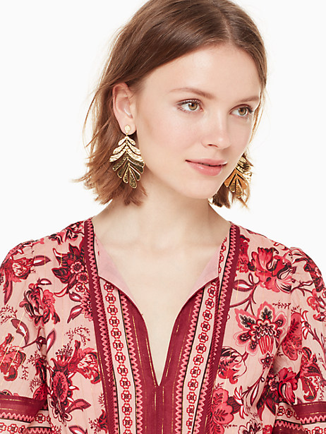 a new leaf statement earrings by kate spade new york