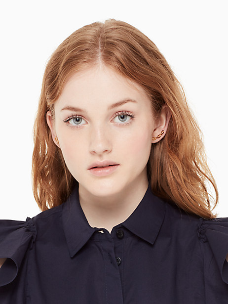 chain reaction link ear pins by kate spade new york