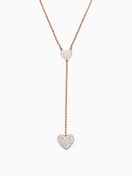 yours truly pave heart y necklace by kate spade new york