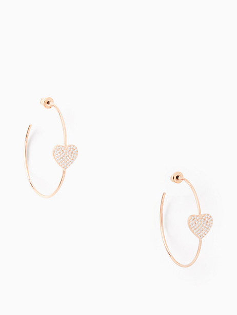 yours truly pave heart hoops by kate spade new york