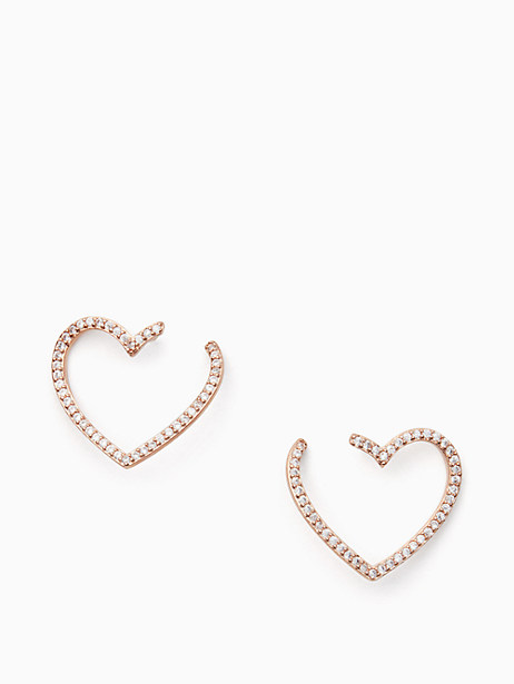 yours truly pave heart bypass hoops by kate spade new york
