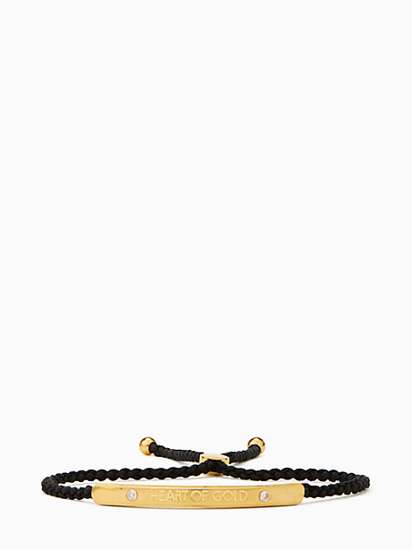 say yes heart of gold slider bracelet by kate spade new york