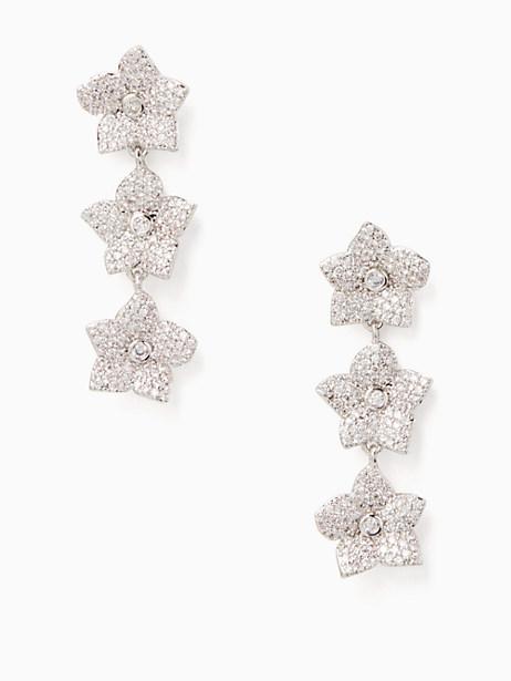 blooming pave bloom linear earrings by kate spade new york