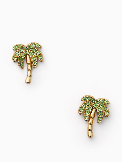 california dreaming pave palm tree studs by kate spade new york