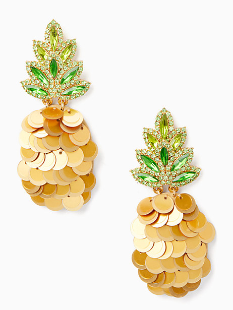 by the pool pineapple statement studs by kate spade new york