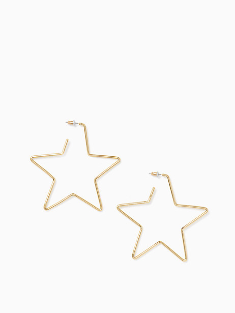scrunched scallops star large hoops by kate spade new york