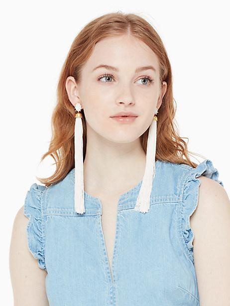 flying colors tassel statement earrings by kate spade new york