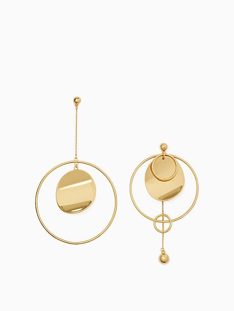 gold standard asymmetrical earrings by kate spade new york