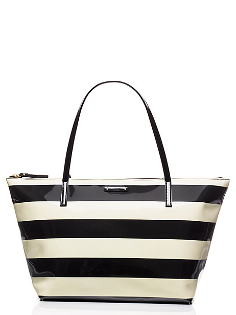 LOVE this striped kate spade bag - only $69!