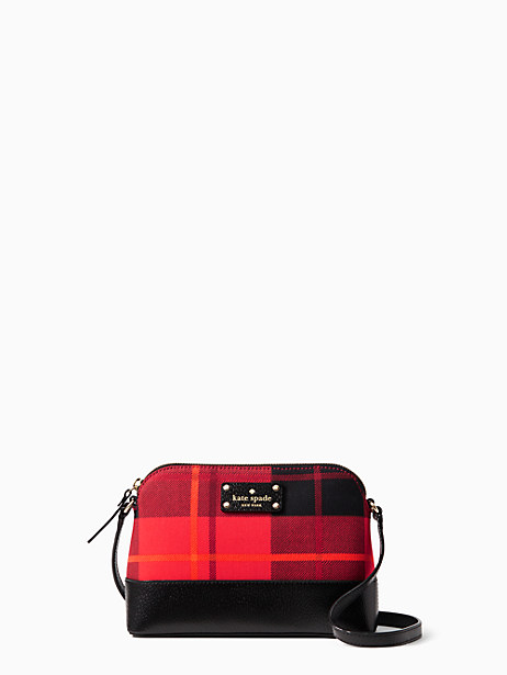 Kate Spade Wellesley Plaid Hanna, Woodland Plaid Cherry Liqueur