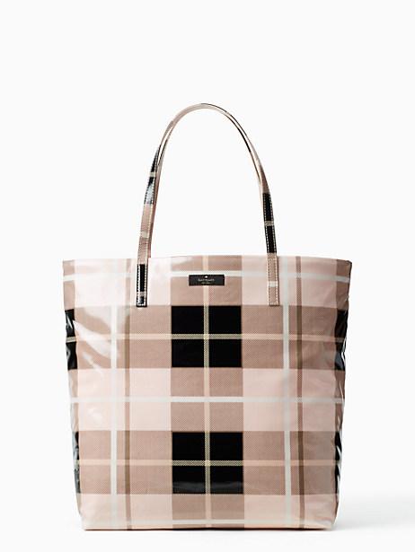 Kate Spade Daycation Bon Shopper, Woodland Plaid Pastry Pink