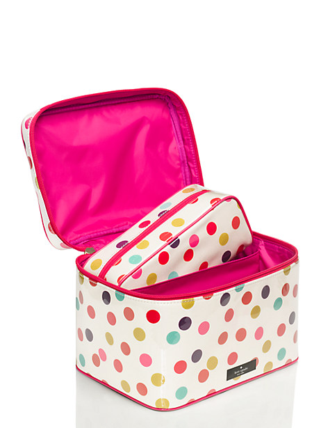 Darling kate spade dotted cosmetic case