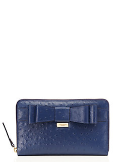 charm city ostrich zip travel wallet by kate spade new york