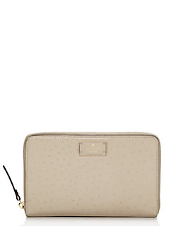 a la vita ostrich zip travel wallet by kate spade new york