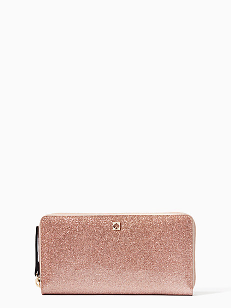 kate spade rose gold wallet - on sale for $49!