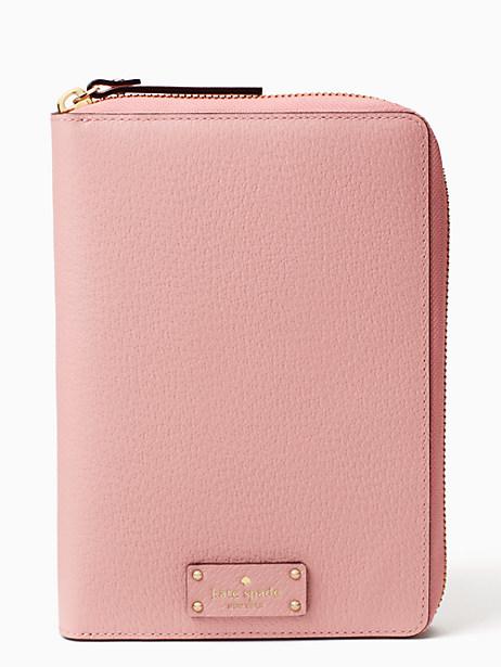 Kate Spade Grove Street Zip Around Personal Agenda, Pink Bonnet