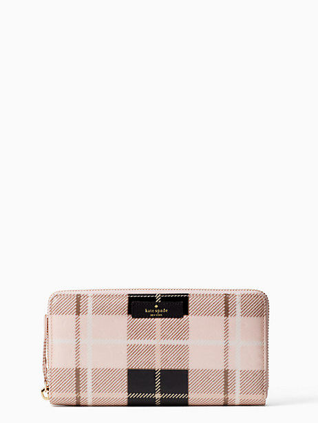 Kate Spade Daycation Neda, Woodland Plaid Pastry Pink