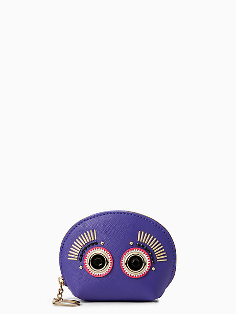 Kate Spade Warm And Fuzzy Monster Coin Purse, Nightlife Blue