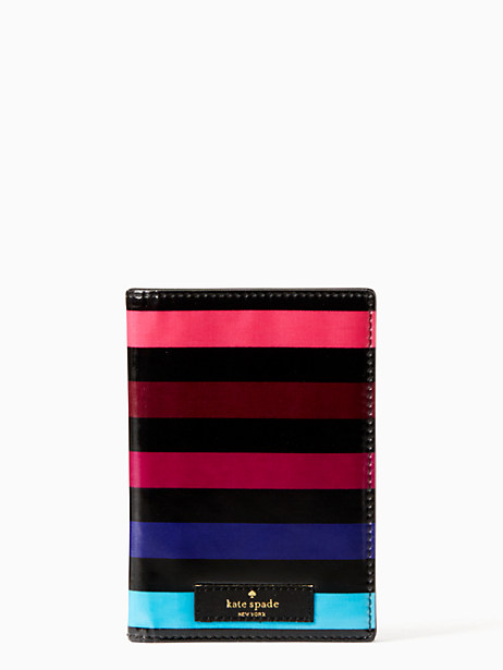 Kate Spade Daycation Passport Holder, Party Stripe