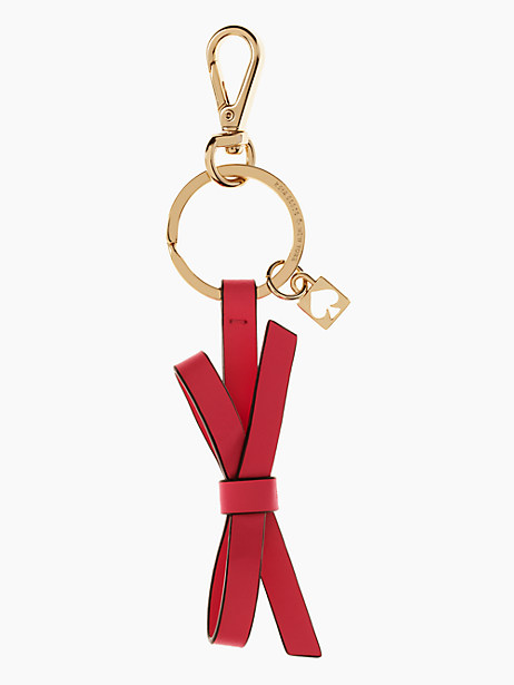kate spade leather bow keychain - on sale for $12!  Perfect stocking stuffer!