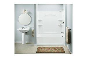 "Ensemble™, Series 7122, 33-1/4"" x 54"" Curve Bath/Shower - End Wall Set"
