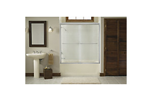 "Finesse™ Sliding Bath Door with Quick Install™ Mounting System - Height 58-3/4"", Max. Opening 59-1/4"""