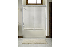 "Finesse™ Sliding Bath Door with Quick Install™ Mounting System - Height 55-3/4"", Max. Opening 59-1/4"""