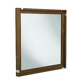 Shown is the Vir Stil Mirror in Black Walnut and Nickel Silver