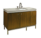 Vir Stil by Laura Kirar Metal 1.5 Vanity Base, Coordinating Drawer and Door Pulls